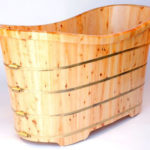 ALFI Brand AB1105 Cedar Wood Bathtub for Your Log Style Cabin