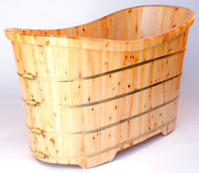ALFI Brand AB1105 Cedar Wood Bath Tub