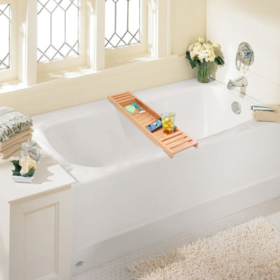 Bamboo Bathtub Caddy