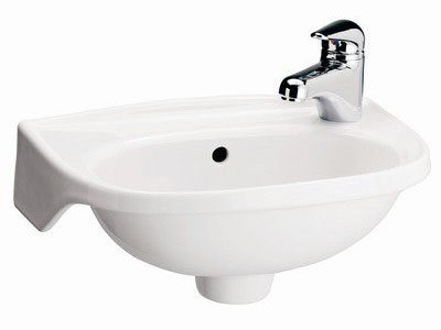 Barclay 4-551 Tina Single Hole Wall Mount Bathroom Sink