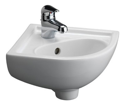 Barclay 4-745WH Universal Petite Vitreous China Wall-Hung Corner Basin