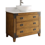 Benton Collection Asian-inspired Akira Vessel Sink Bathroom Vanity Is Perfect For Your Country Themed Bathroom