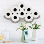 Cloudy Day Toilet Paper Storage : A Storage Solution and A Wall Art in One