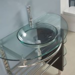 Contemporary Glass Vanity Combo SET With Shelves Makes Doing Your Thing A Breeze