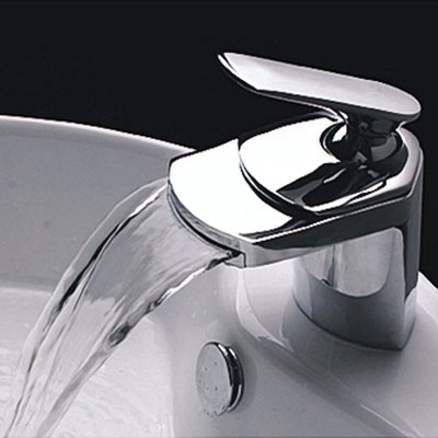 Contemporary Single Handle Waterfall Bathroom Vanity Faucet By ...