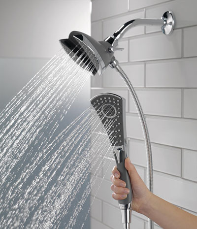 Delta 58467 In2ition 4-Setting Two-in-One Handshower Showerhead
