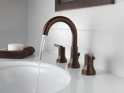 Delta Trinsic Bathroom Widespread Bathroom Faucet (3559-MPU-DST) - Venetian Bronze