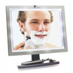 Deluxe LED Fogless Shower Mirror With Squegee Features Shatter Proof High Quality Acrylic Mirror