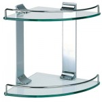 Decorate And Organize Your Bathroom With Your Dowell Double Corner Glass Shelf