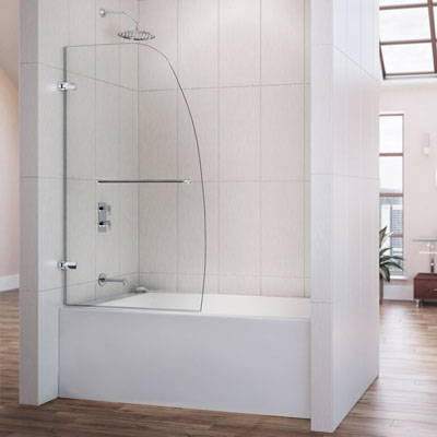 Dreamline Aqua Uno 34 in. Frameless Hinged Tub Door