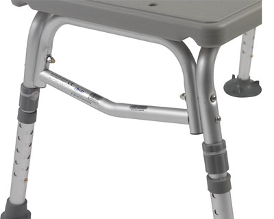 Drive Medical Plastic Tub Transfer Bench Features Adjustable Backrest