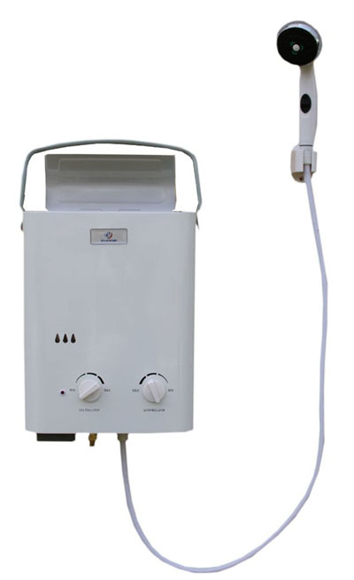 L5 Portable Tankless Water Heater and Outdoor Shower