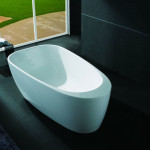 Tall People Enjoy A Comfortable Bathe Experience With FIREBIRD Bathroom White Color FreeStand Acrylic Bathtub (FBAK-192F)