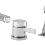 Hansgrohe 04126000 Metris S 3-Hole Thermostatic Tub Filler Trim Features Minimalist, Contemporary European Designs