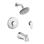 Hansgrohe 04465000 Focus S Shower System Combo For A Rainlike Shower Experience