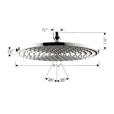 Hansgrohe 27474001 Raindance Downpour AIR Showerhead