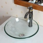 European-Style Inello Clear Tempered Glass Vessel Sink Offers Clean and Elegant Look