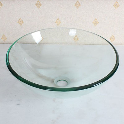 Inello Clear Tempered Glass Vessel Sink