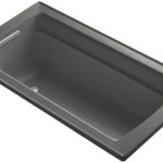 KOHLER K-1123-0 Archer 5-Foot Bathtub for Relaxing Deep Soaking Experience