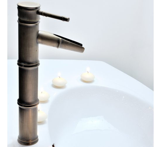 LightInTheBox Single Handle Bathroom Bamboo Vessel Filler Faucet