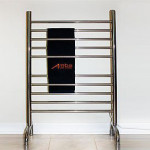Modern Italian Classic 24 x 38 In Polished Freestanding Towel Warmer That Doesn't Require You to Drill Holes on Your Wall