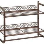 Organized Bathroom Is Easier With Morocco Wall Mounting 2-Tier Shelf with Towel Bar