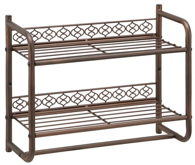 Morocco Wall Mounting 2-Tier Shelf with Towel Bar