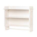 Make Life Easier In Your Bathroom With Nantucket Home White Bathroom Wall Shelf Towel Holder
