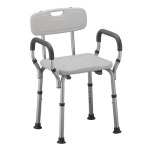 Sturdy Nova Ortho-med Quick Release Shower Chair With Rust Resistant Aluminum Anodized Frame