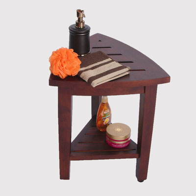 Oasis Fully Assembled Teak Corner Shower Bench