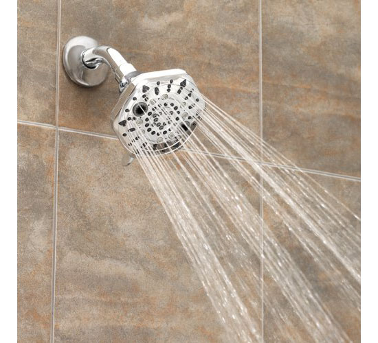 Oxygenics PowerSelect 7-Function Wall Mount Showerhead