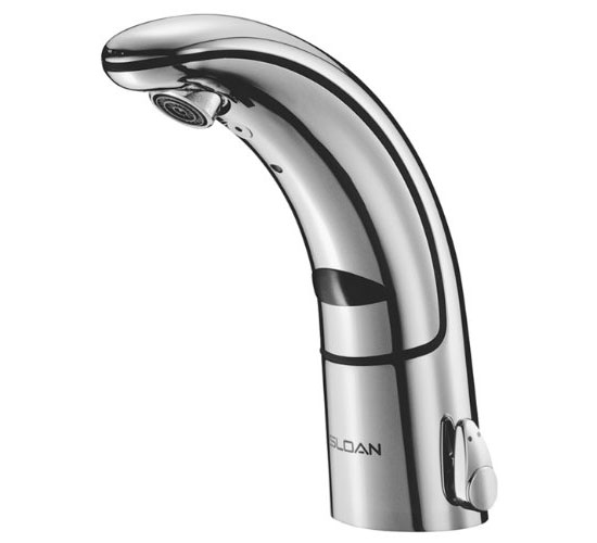 Sloan Valve EAF-150-ISM Optima IQ Battery Operated Sensor Activated Electronic Hand Washing Faucet