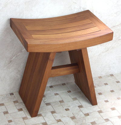 Solid Teak Indoor Outdoor Asian Stool