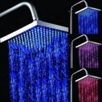 Cool Temperature Sensitive 8-inch Rainfall LED Shower Head Is Powered by Water Pressure