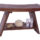 Modern Serenity Asia Style Teak Shower Bench Features Traditional Design
