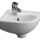 Barclay 4-745WH Universal Petite Vitreous China Wall-Hung Corner Basin Looks Cute in Your Small Bathroom