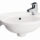 Barclay 4-551 Tina Single Hole Wall Mount Bathroom Sink for Small Bathroom