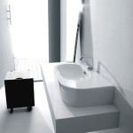 Do Your Thing In Your Bathroom Easily With WS Bath Collections Flo 3143 Wall Hung or Counter Top Ceramic Sink