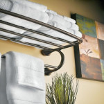 Keep Your Bath Towels In Order With Your Moen YB2894ORB Eva Hotel Towel Shelf