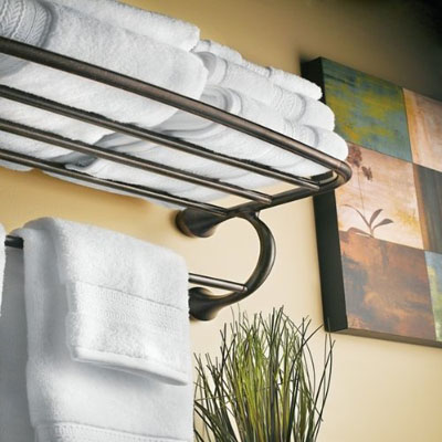 Model Amp Decor Nantucket White Wall Towel Shelf Holder For Home Bathroom